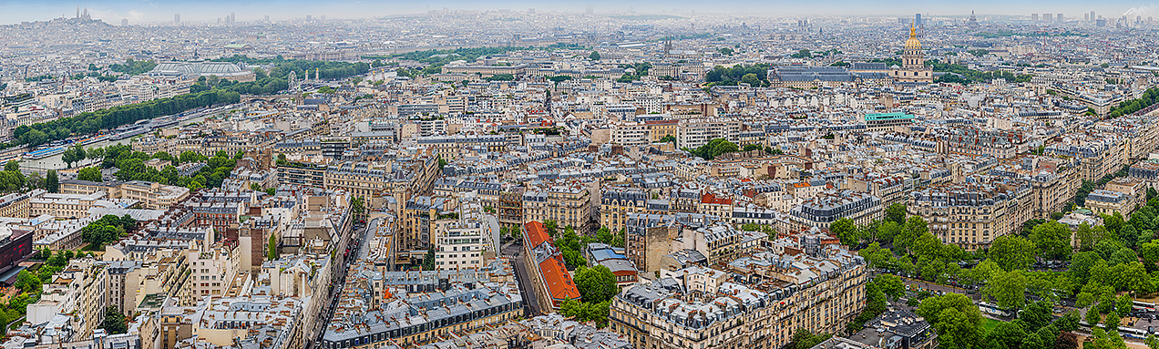 Paris from the second level of the Eiffel Tower