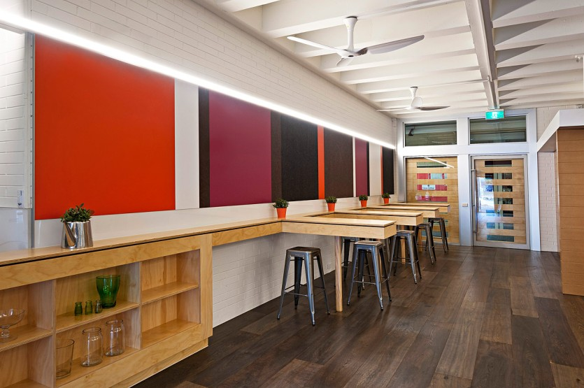 Glenn College Bistro interiors, La Trobe University - ©Michael Evans Photographer 2013