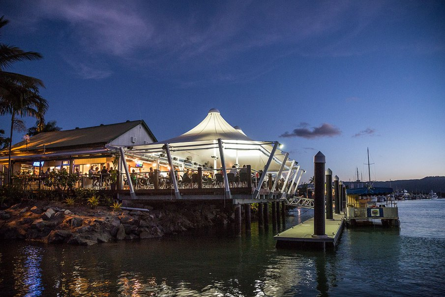 Restaurant at Port Douglas Harbour - © Michael Evans Photographer 2013 - www.michaelevansphotographer.com