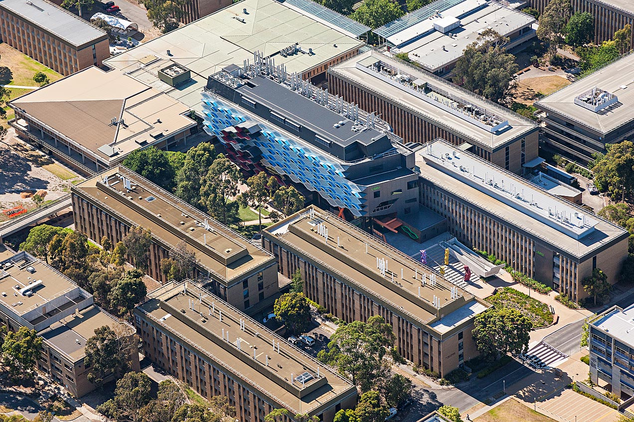 LIMS building - La Trobe University aerial image - © Michael Evans Photographer 2014