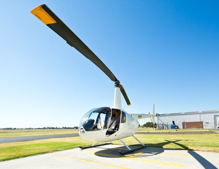 Robinson R44 - La Trobe University aerial image - © Michael Evans Photographer 2014