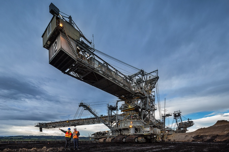 Brown Coal dredger, Loy Yang mine, Traralgon, Victoria - © Michael Evans Photographer 2014 - www.michaelevansphotographer.com