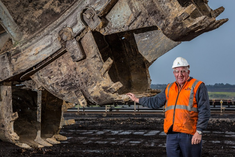 Miners at the Loy Yang open cut mine, Traralgon, Victoria - © Michael Evans Photographer 2014 - www.michaelevansphotographer.com