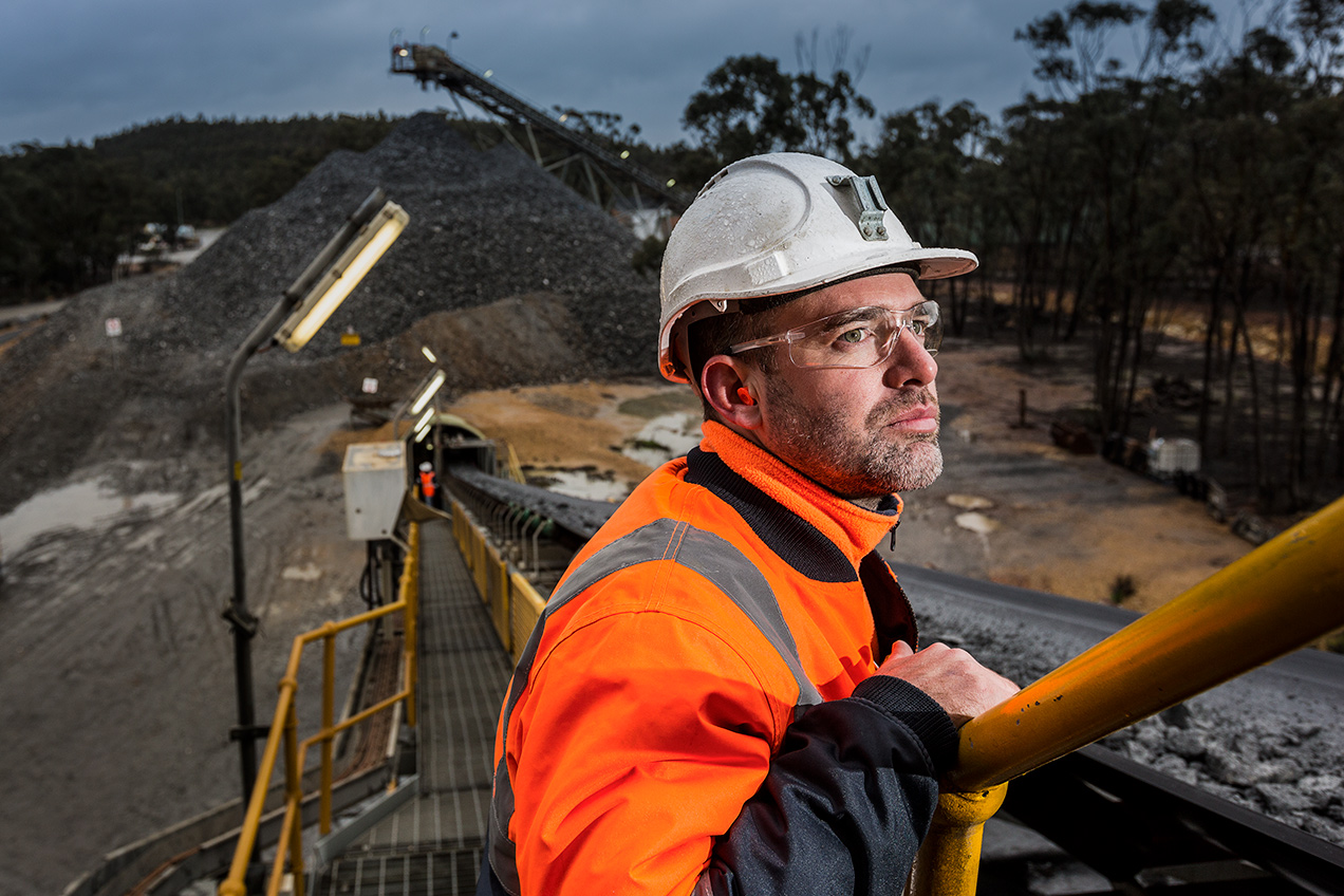 Miner at Fosterville Gold mine - © Michael