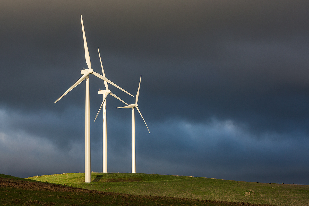 Wind Turbines at Waubra Wind Farm - © Michael Evans Photographer 2014 - www.michaelevansphotographer.com