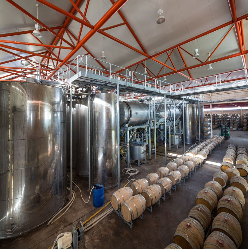 The winery production area on display from the interior balcony - - © Michael Evans Photographer - www.michaelevansphotographer.com