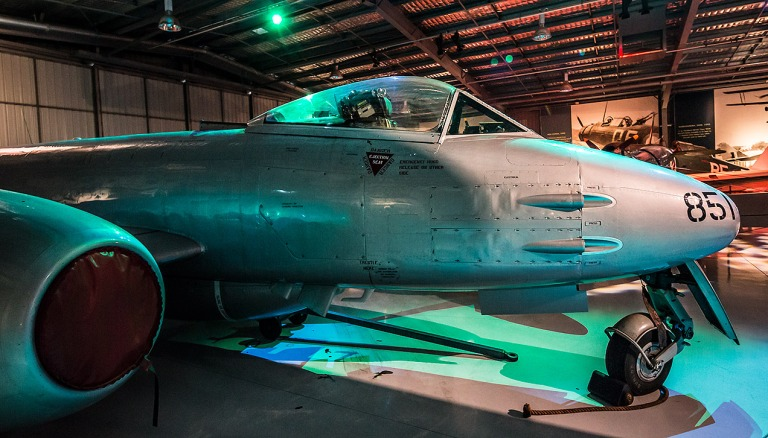 Gloster Meteor in the Temora Aviation Museum © Michael Evans Photographer 2014 - www.michaelevansphotographer.com