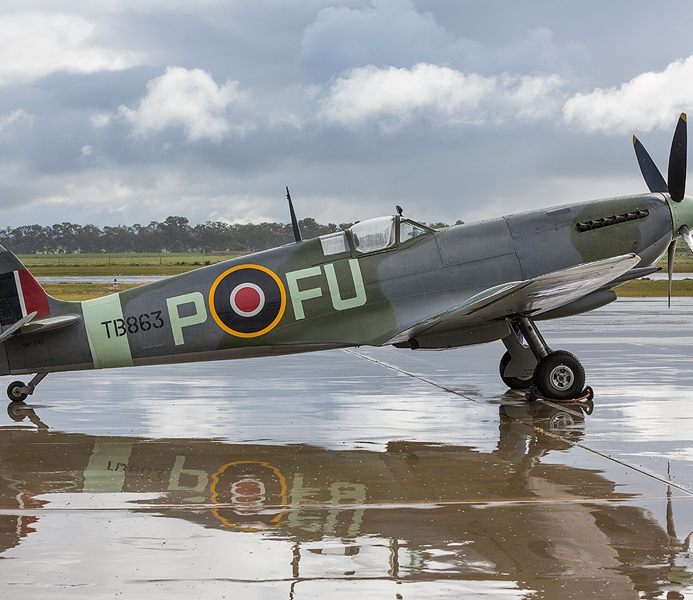 Spitfire Mk XVI on the tarmac © Michael Evans Photographer 2014