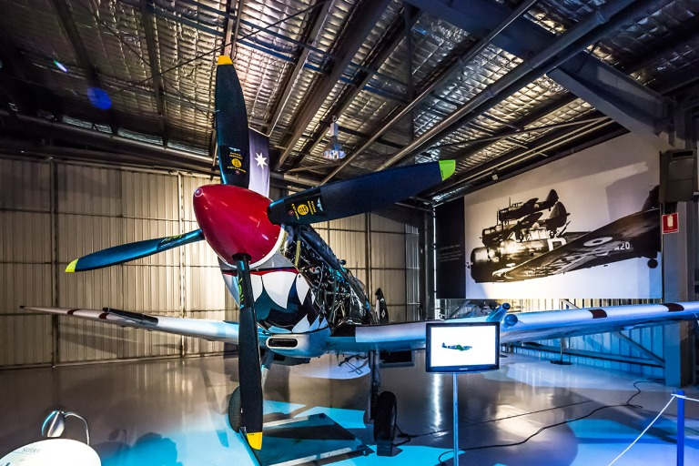 Spitfire Mk VIII in the Temora Aviation Museum © Michael Evans Photographer 2014