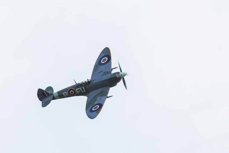Spitfire Mk XVI in the air © Michael Evans Photographer 2014