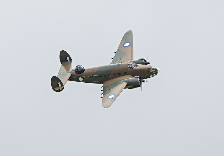 Lockheed Hudson in the air © Michael Evans Photographer 2014