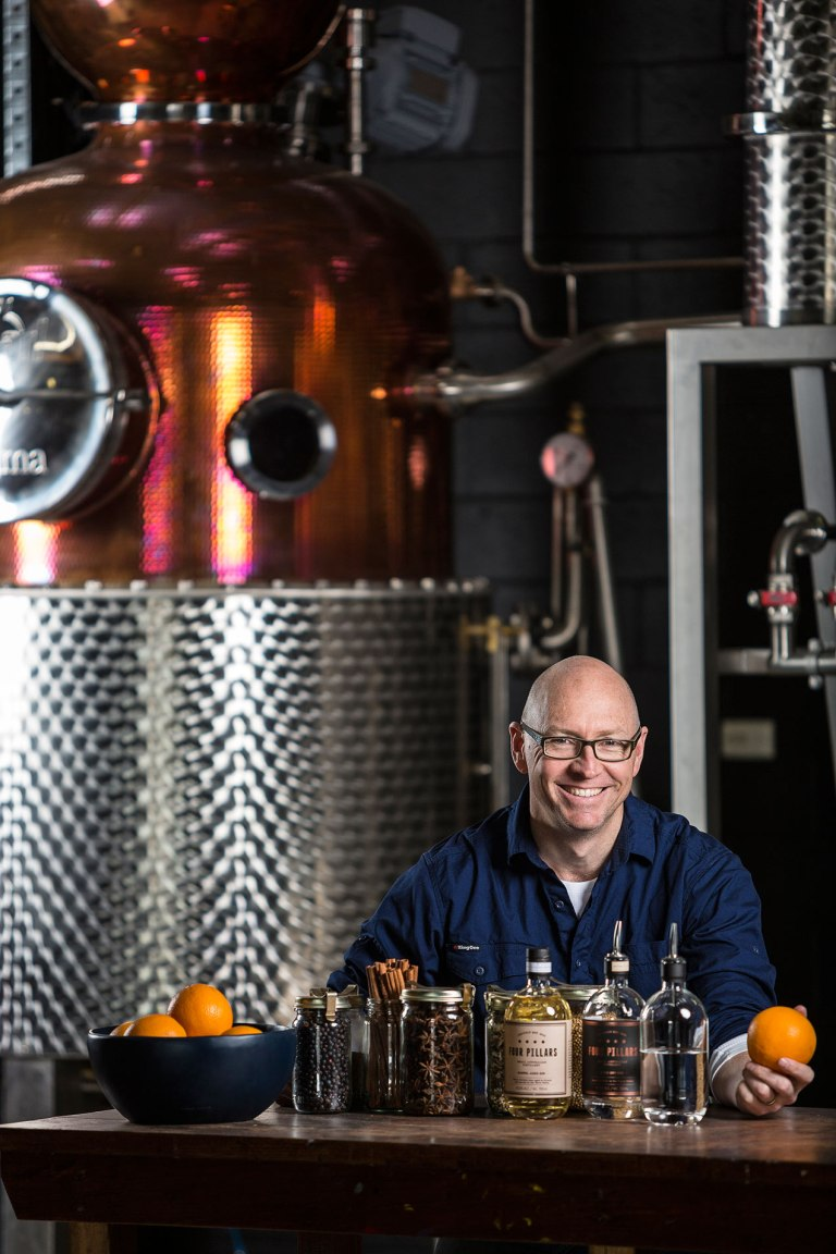 Cameron Mackenzie, maker and owner of Four Pillars Gin Michael Evans Photographer 2014 - www.michaelevansphotographer.com