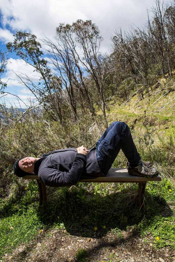 Photographer Michael Evans at Mount Hotham, Victorian Alps - © Michael Evans Photographer 2014