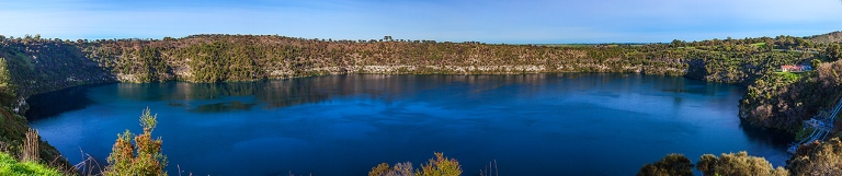 Multi Image panorama of Mount Gambier's Blue Lake © Michael Evans Photographer 2014 - www.michaelevansphotographer.com