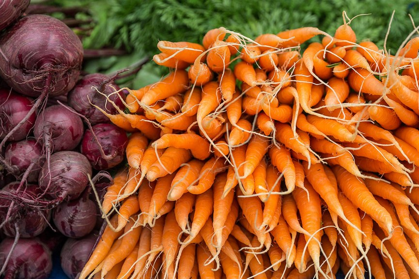 Carrots at the Salamanca Market © Michael Evans Photographer 2015