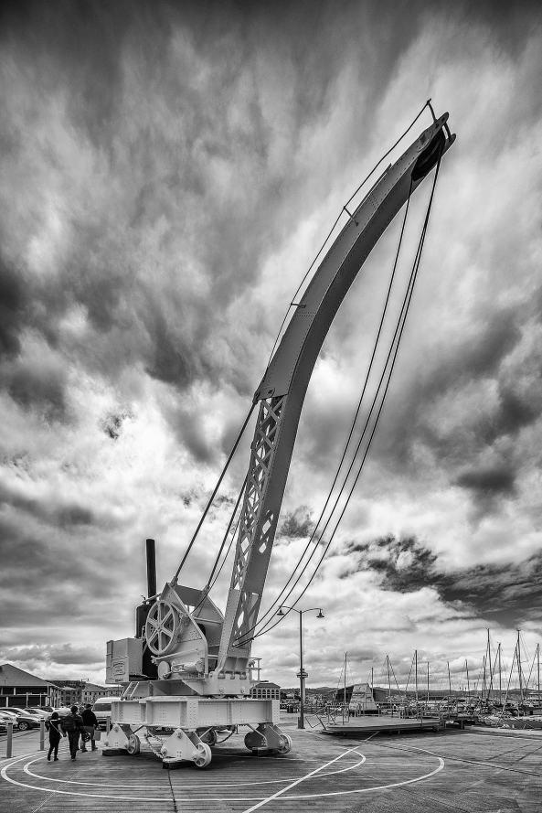 Wharf crane, Franklin Wharf, Hobart © Michael Evans Photographer 2015 - www.michaelevansphotographer.com