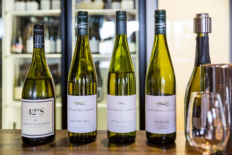 Frogmore Creek Wines on offer for tasting  © Michael Evans Photographer 2015 - www.michaelevansphotographer.com