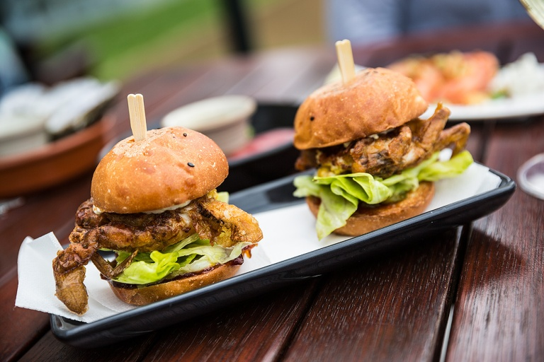 Crab Sliders at Frogmore Creek Winery © Michael Evans Photographer 2015 - www.michaelevansphotographer.com