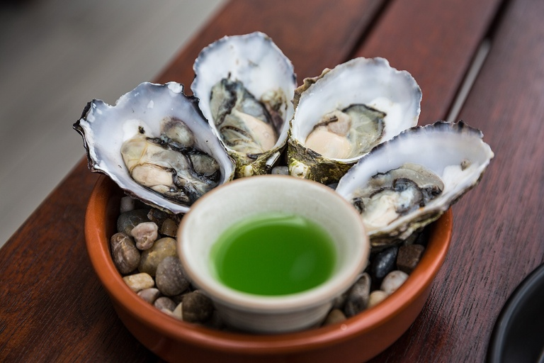 Oysters at Frogmore Creek Winery © Michael Evans Photographer 2015 - www.michaelevansphotographer.com