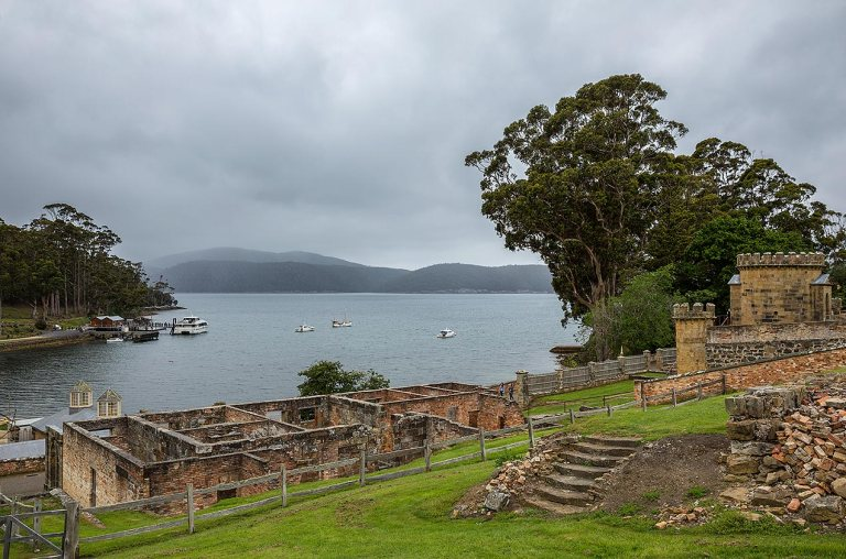 View from Port Arthur over the bay © Michael Evans Photographer 2015 - www.michaelevansphotographer.com