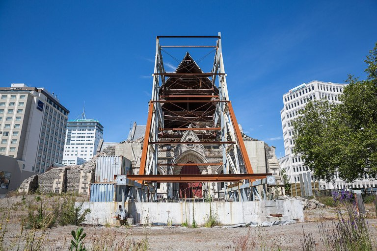 Earthquake damaged building in Christchurch © Michael Evans Photographer 2015 -