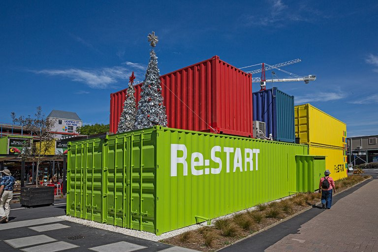 Shipping container shops in Christchurch © Michael Evans Photographer 2015 -