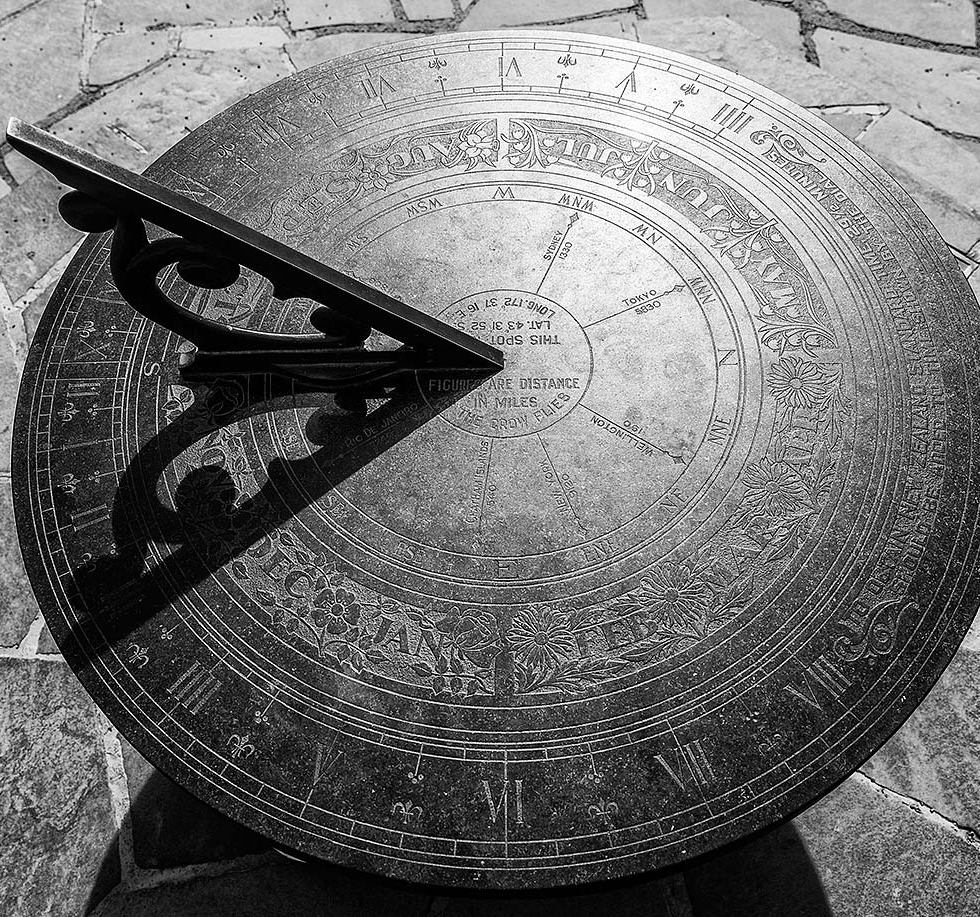 Sundial, Christchurch Botanic Gardens© Michael Evans Photographer 2015