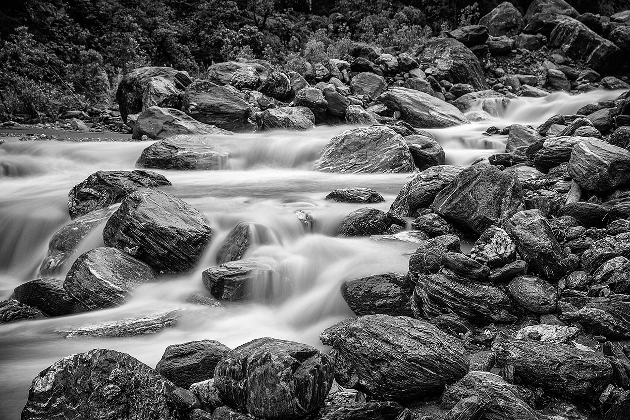 River at Fox Glacier © Michael Evans Photographer 2015