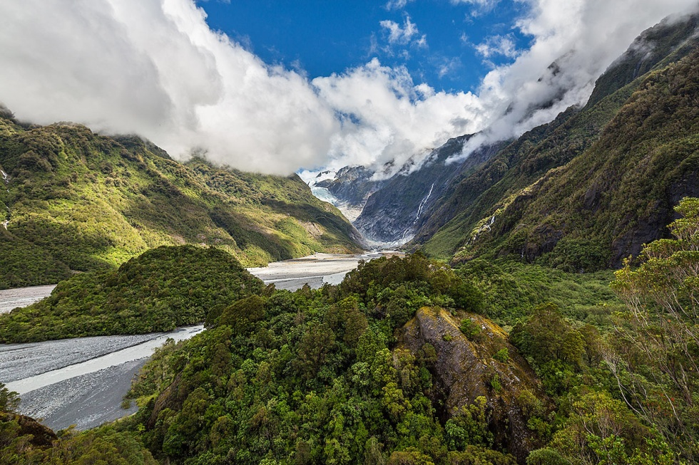 Franz Josef Glacier from the Forest Walk viewpoint - © Michael Evans Photographer 2015