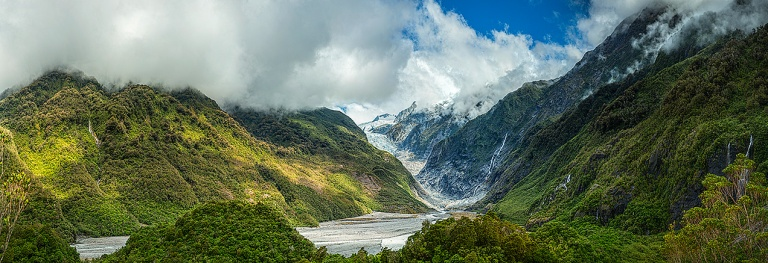 Multi row panoramic image of Franz Josef Glacier © Michael Evans Photographer 2015