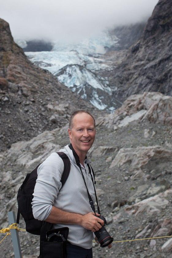 Photographer Michael Evans at Franz Josef Glacier, New Zealand © Michael Evans Photographer 2015 - www.michaelevansphotographer.com