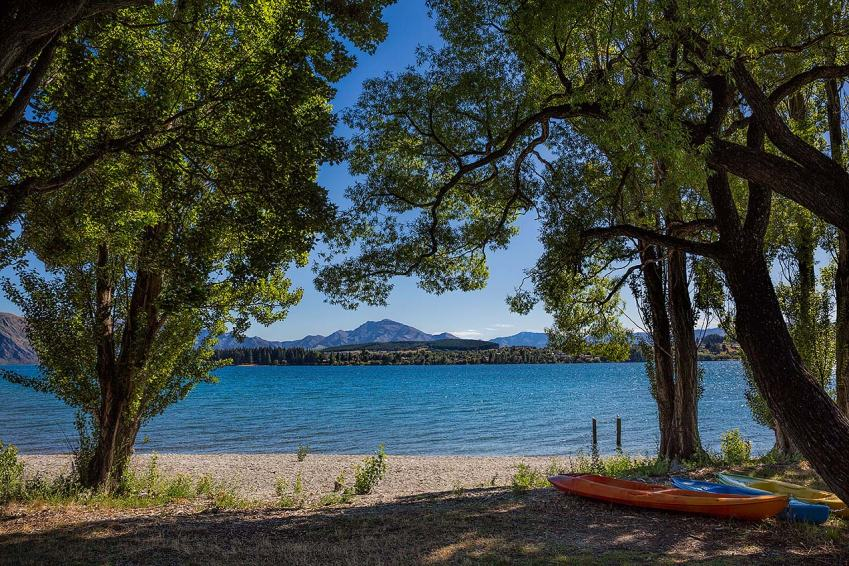 Kayaks by Lake Wanaka, New Zealand © Michael Evans Photographer 2015
