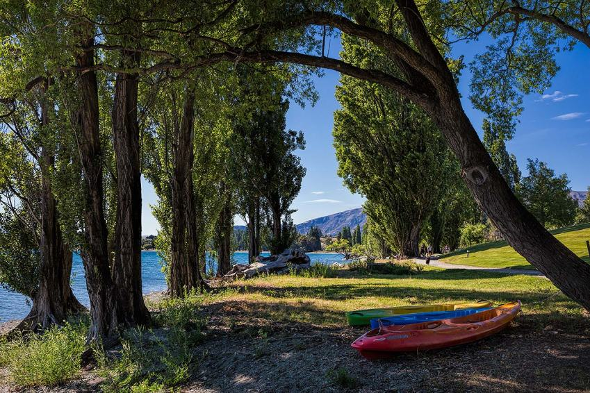 Kayaks by Lake Wanaka, New Zealand © Michael Evans Photographer 2015