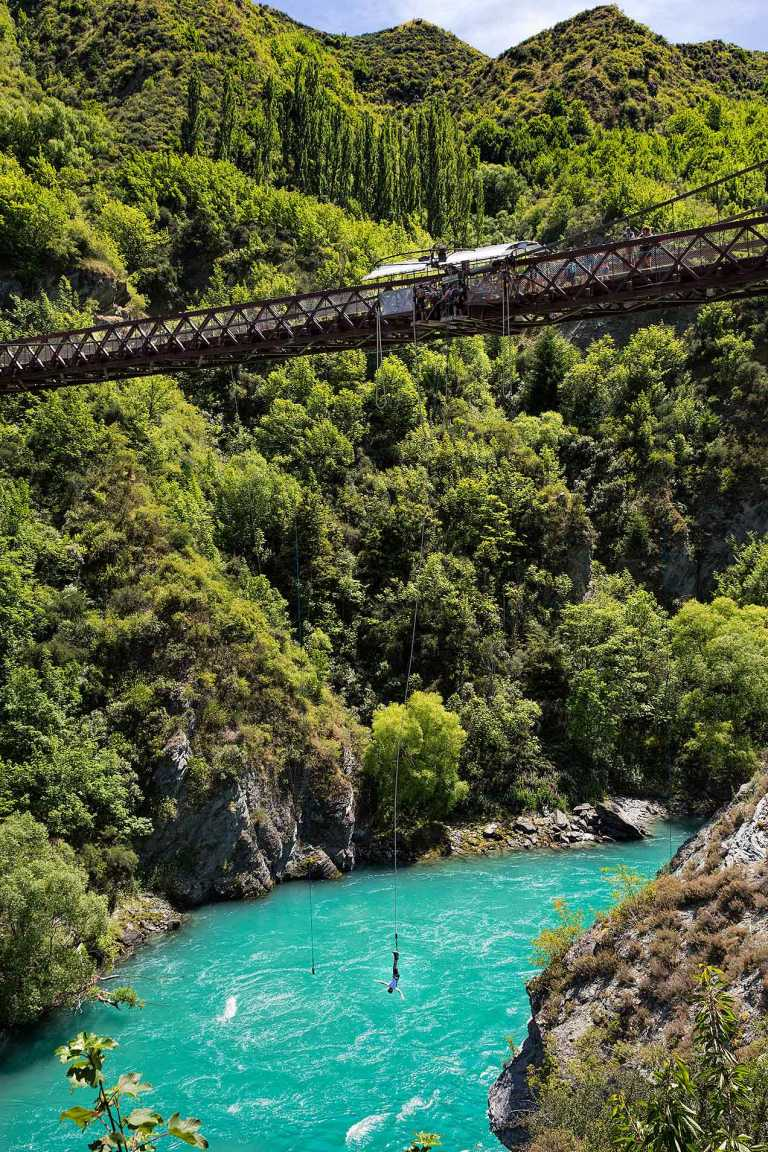A J Hackett bungy jumping, Queenstown, New Zealand  © Michael Evans Photographer 2015