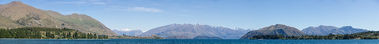 Panoramic image of Lake Wanaka, New Zealand  © Michael Evans Photographer 2015
