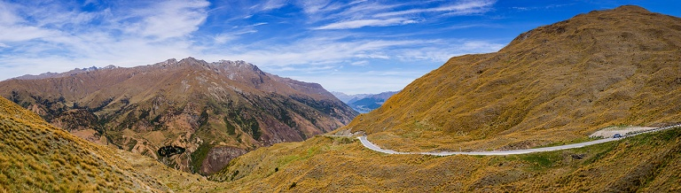 The road between Lake Wanaka and Queenstown, New Zealand © Michael Evans Photographer 2015