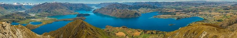 View from Roy's Peak over Lake Wanaka, New Zealand © Michael Evans Photographer 2015