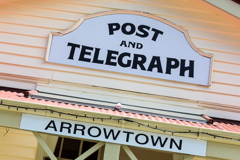 Arrowtown signage © Michael Evans Photographer 2015