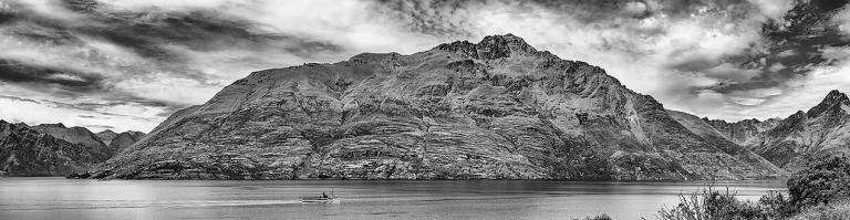Panoramic view of the TSS Earnslaw Vintage Cruiseship © Michael Evans Photographer 2015