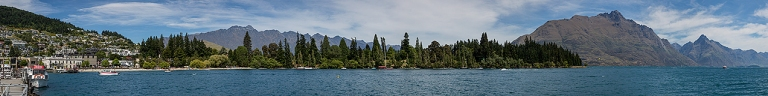 Panoramic view of Queenstown from pier area © Michael Evans Photographer 2015