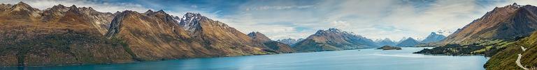 Panoramic view of Lake Wakatipu  © Michael Evans Photographer 2015