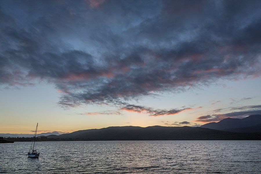 Sunset over Lake Te Anau  © Michael Evans Photographer 2015