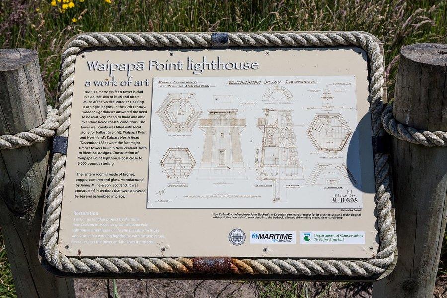 Sign describing hte Waipapa lighthouse© Michael Evans Photographer 2015