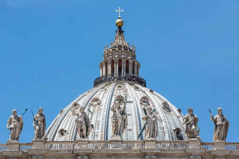 Close up of St Peter's Basilica, Rome - © Michael Evans Photographer 2015