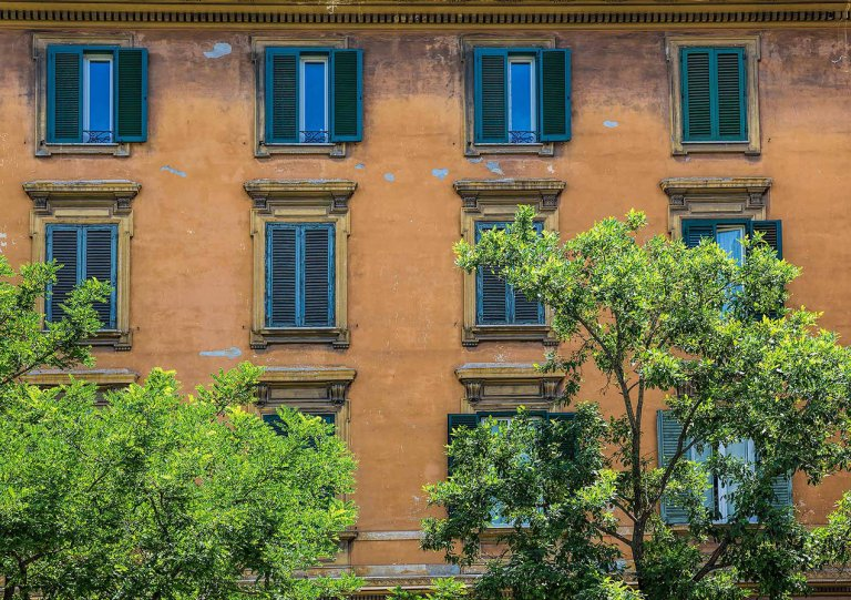 Buildings opposite the Vatican Museum, Rome - © Michael Evans Photographer 2015