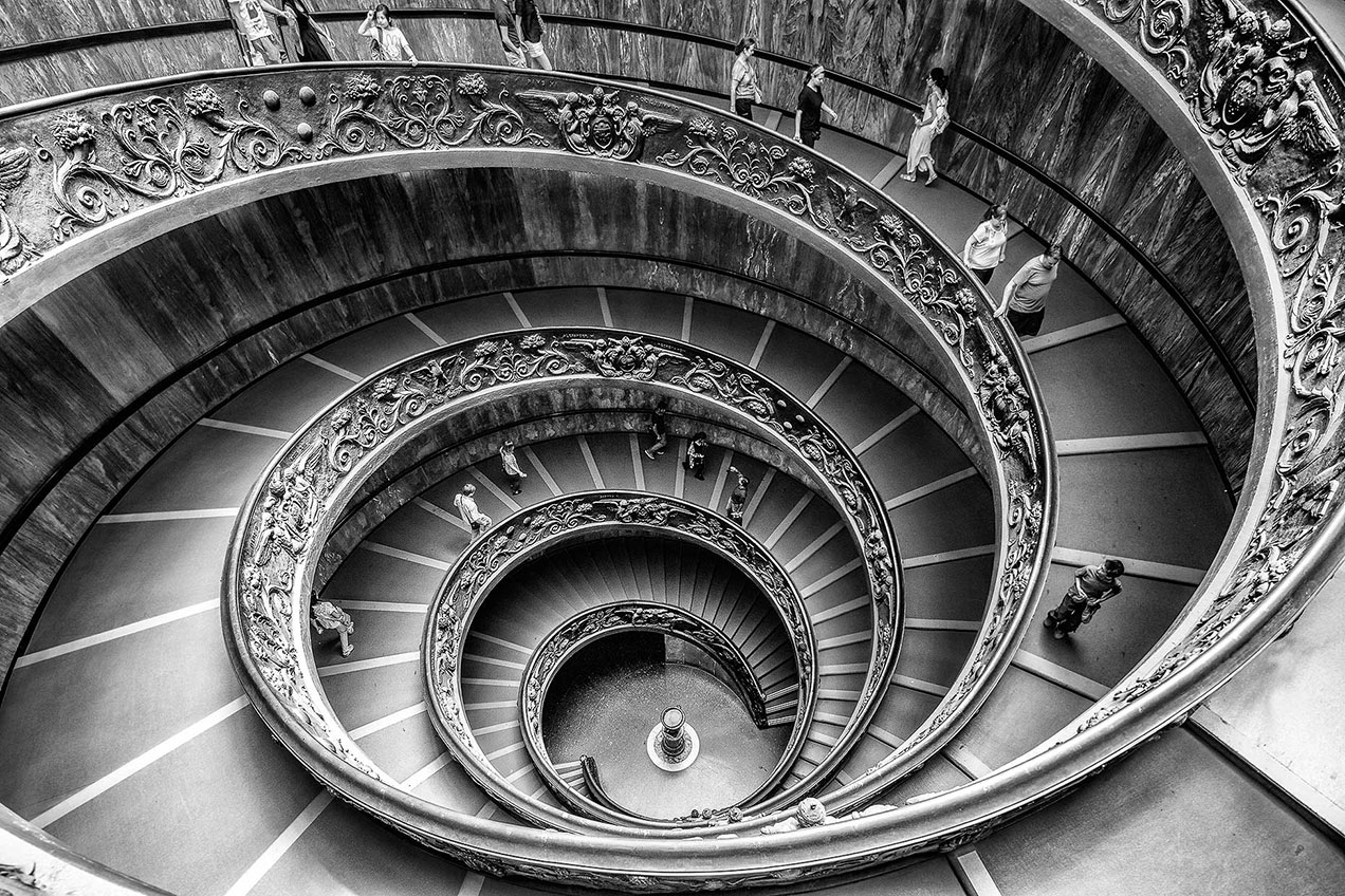 Bramante Staircase in the Vatican Museum, Rome © Michael Evans Photographer 2015
