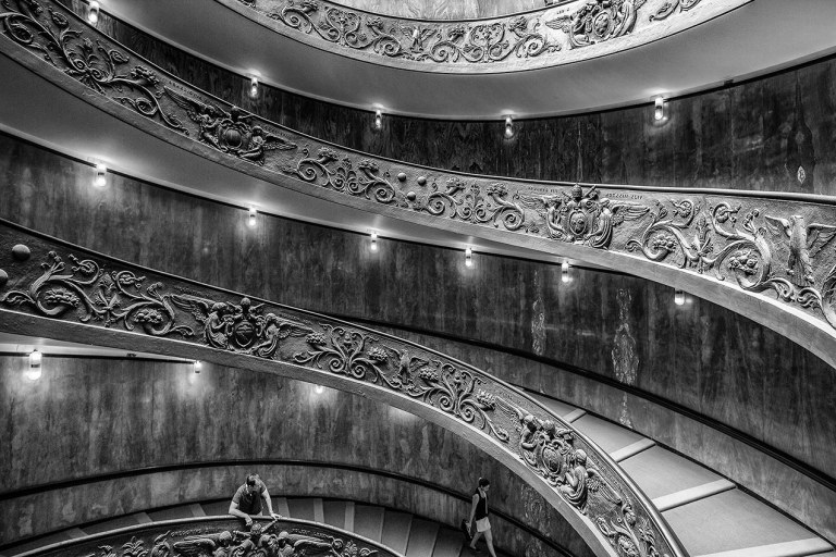 Bramante Staircase in the Vatican Museum, Rome- © Michael Evans Photographer 2015