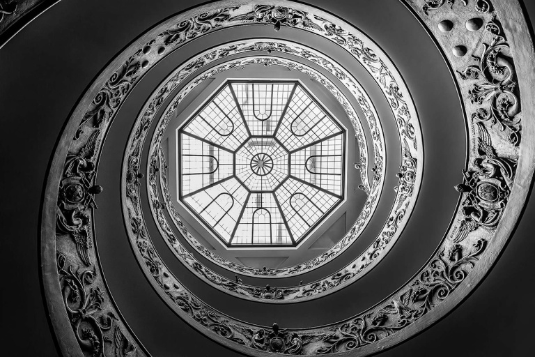 Bramante Staircase in the Vatican Museum, Rome - © Michael Evans Photographer 2015