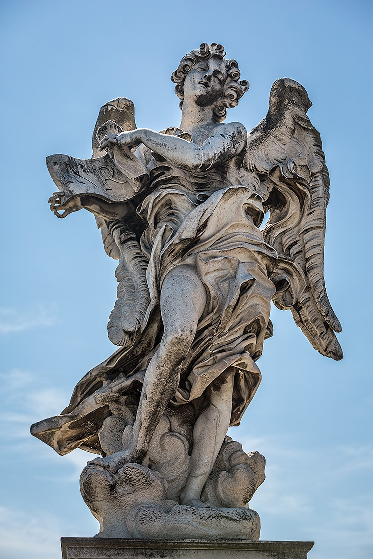 Angel With The Superscription copy by Giulio Cartari on Ponte St'Angelo - © Michael Evans Photographer 2015