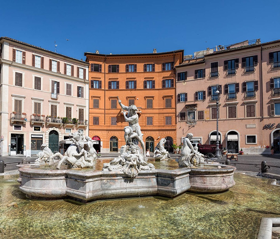 Fountain of Neptune, Piazza Navona, Rome © Michael Evans Photographer 2015